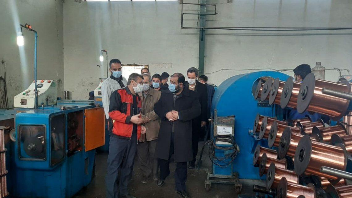 بازدید سرپرست شرکت شهرک های صنعتی استان زنجان